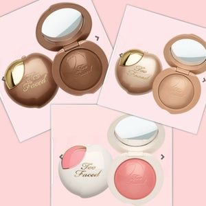Too faced peach frost bronzer dream blush and bag